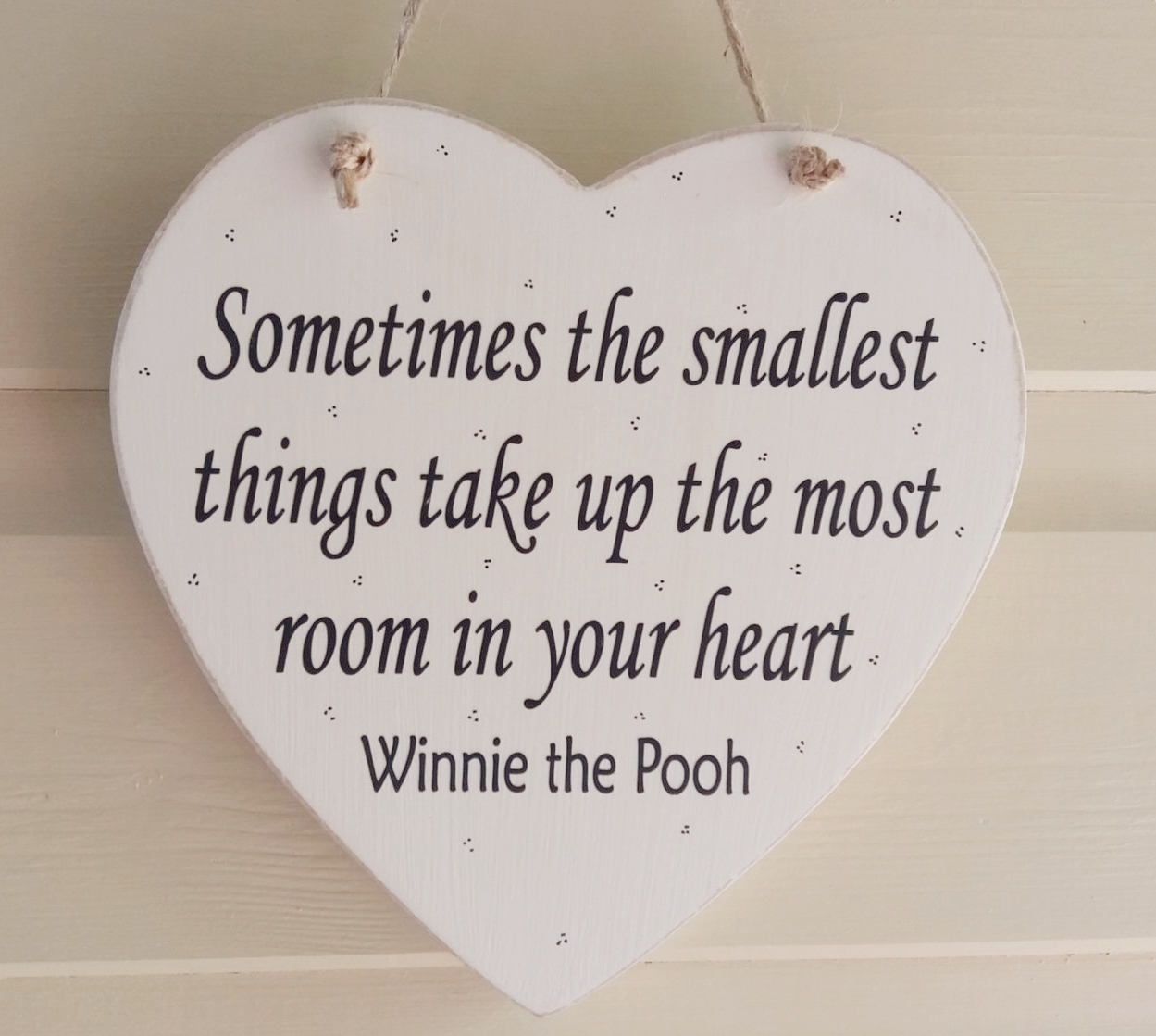 Winnie The Pooh Quotes Sometimes The Smallest Things: Large Winnie The Pooh Quote Heart