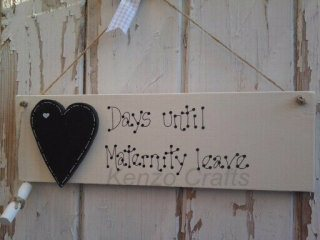 personalised countdown plaque maternity leave countdown to maternity leave 320x240