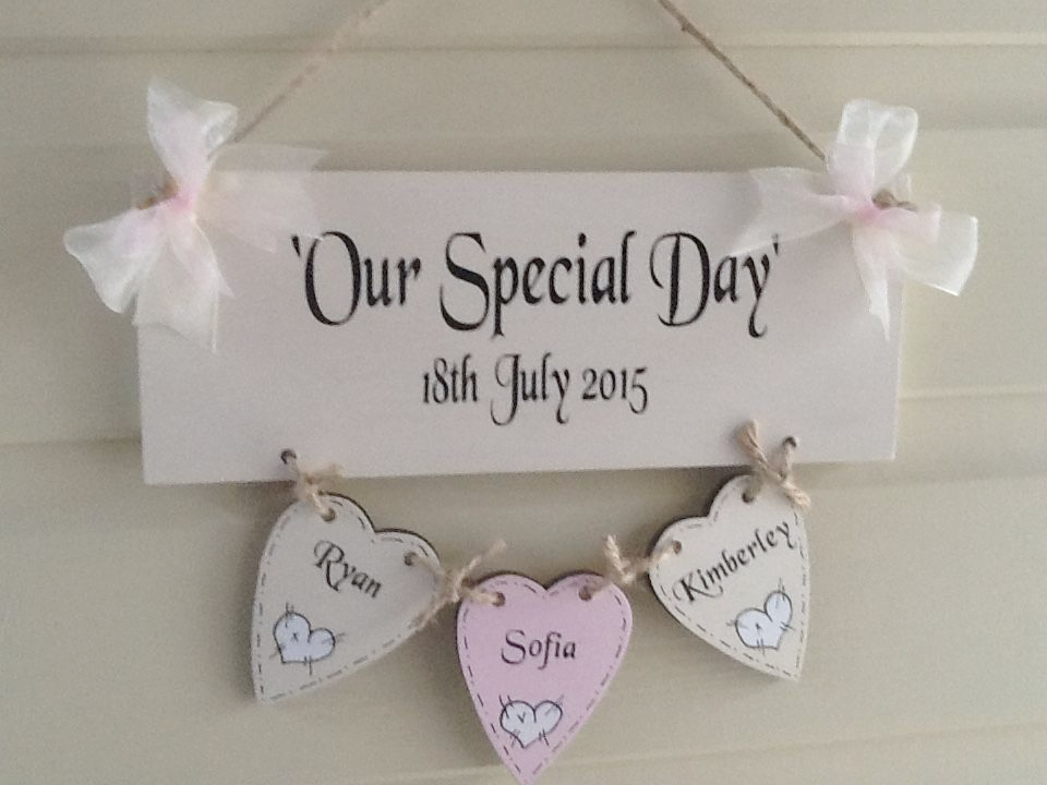 Wedding Gifts For Couples Who Have Been Married Before : Personalised Wedding/Anniversary Our special Day