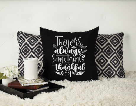 'Always Grateful' Canvas Cushion