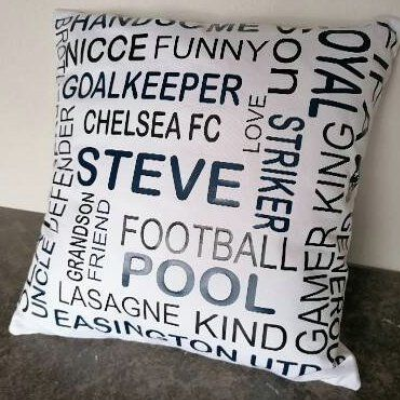 'It's All About Me Personalised Canvas Cushion