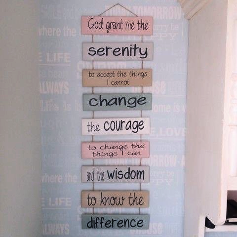 'The Serenity Prayer' Ladder Plaque