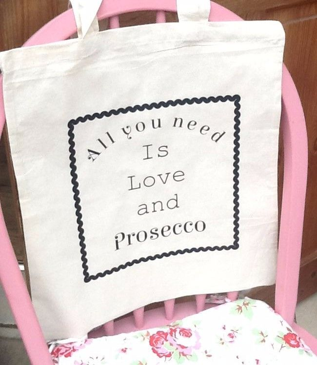100% Cotton Long handled Shopper - All You Need Is Love