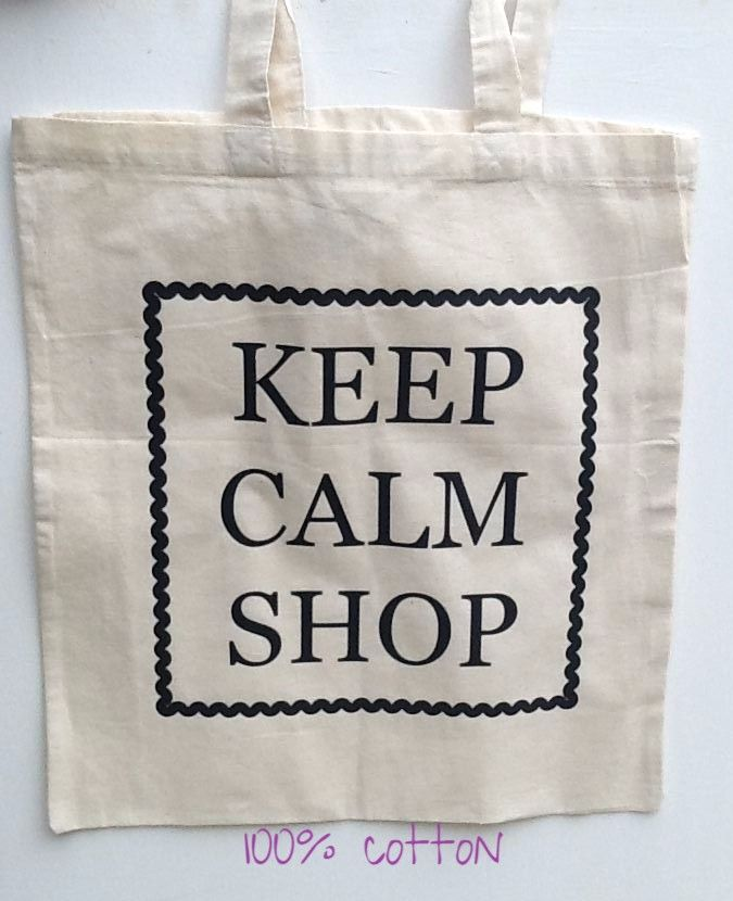 100% Cotton Shopping Bag -KEEP CALM SHOP