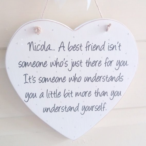 A Best Friend Isn't Just Someone ...Personalised Heart