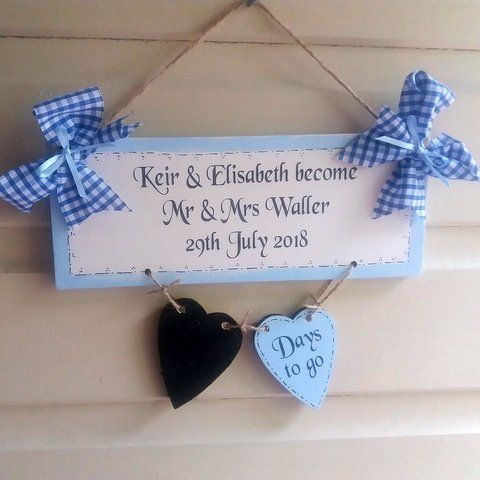 A Personalised Wedding Countdown Chalkboard
