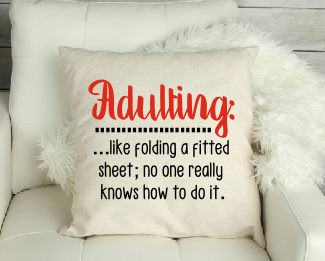 Canvas' Adulting is Like' Funny Cushion