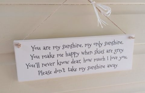 Chalk Painted Plaque - You're My Sunshine