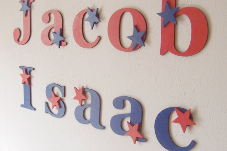 Children's Decorative Wooden Giant Star Letters