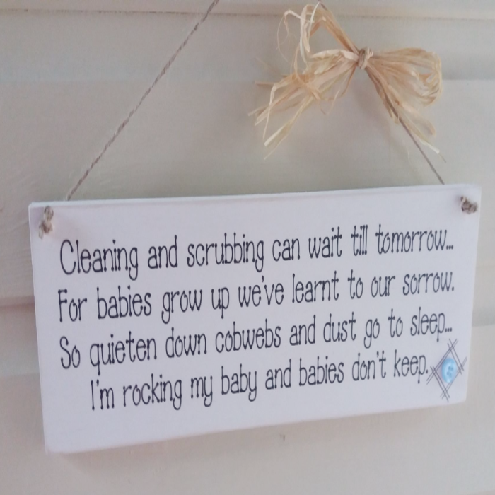 Cleaning And Scrubbing Can Wait Till Tomorrow Wooden Plaque