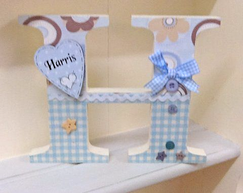 Stand Alone Large Personalised Letter For Boys