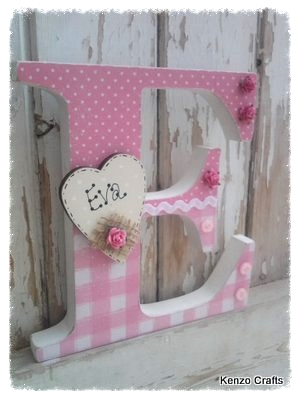 Free Standing Girls Personalised Letter