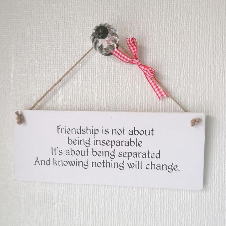 Friendship Plaque - Friendship is Not About being Inseparable