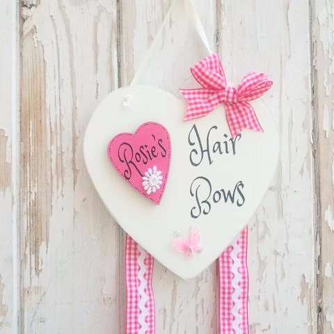 Girls Personalised Bow Holder