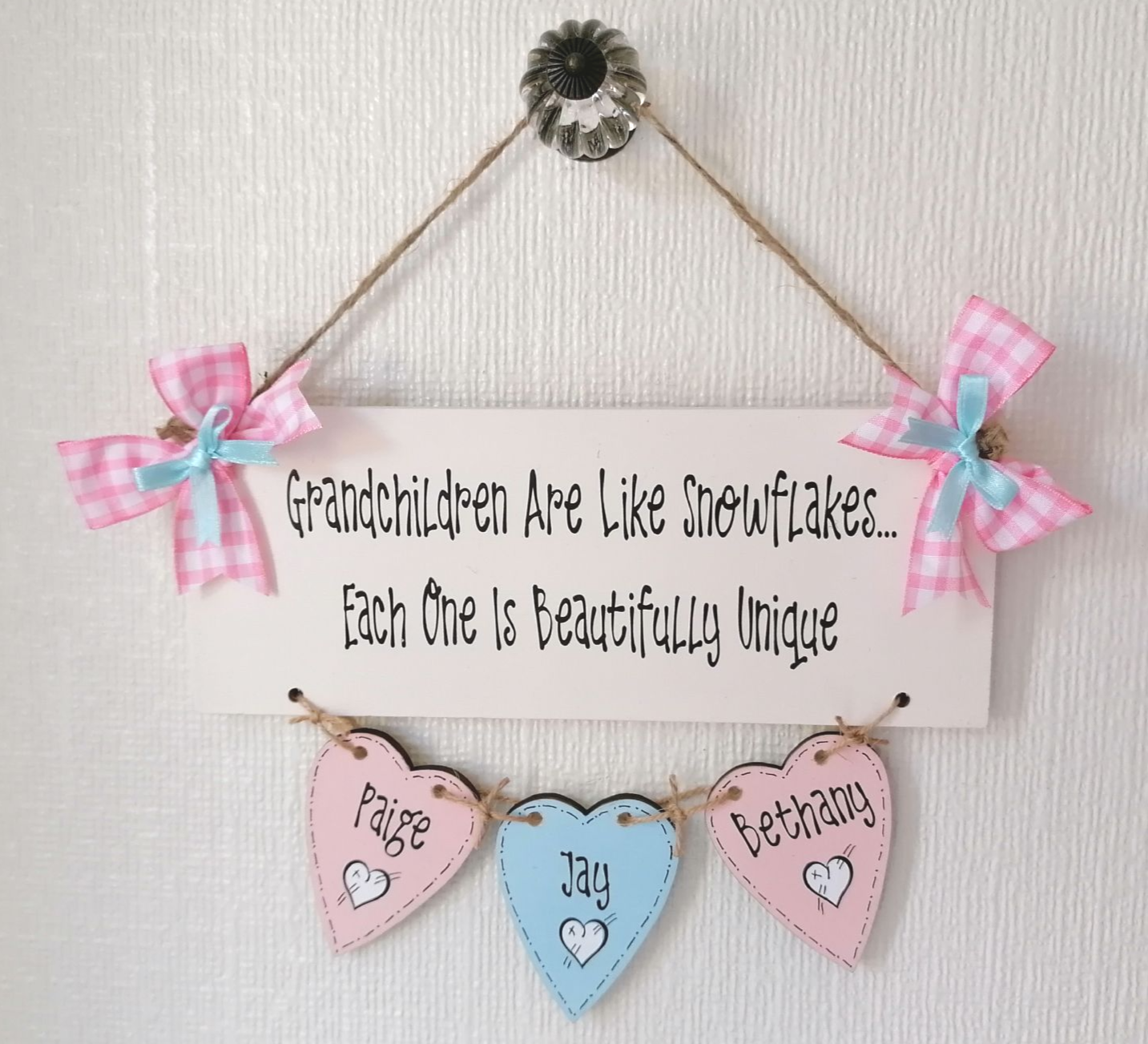 Grandchildren Are Like Snowflakes Personalised Plaque