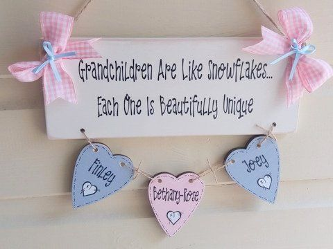 Grandchildren Are Like Snowflakes Plaque