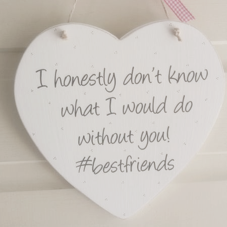 Hash Tag Best Friends....Shabby Chic Style Heart