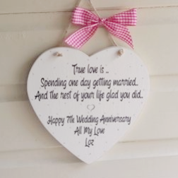 Large Shabby Chic Heart Perfect Gift For Your Anniversary