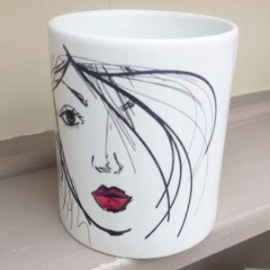 Personalised Ceramic Mug With Own Text