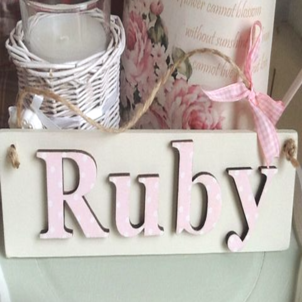 Personalised Children's Name Plate In Wood