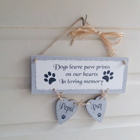 Personalised Dog Memory Plaque - Dogs Leave Paw Prints On Our Hearts