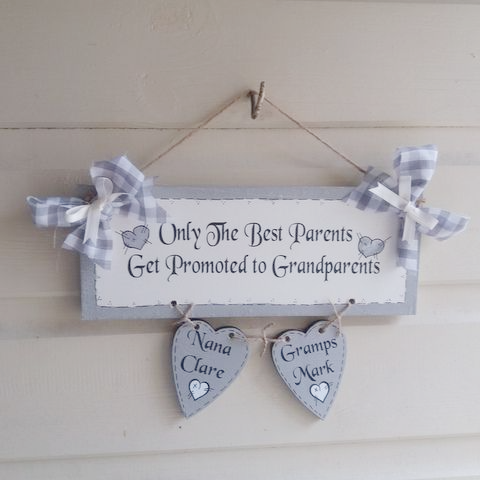 Personalised Grandparent Gift - Only The Best Parents Get Promoted