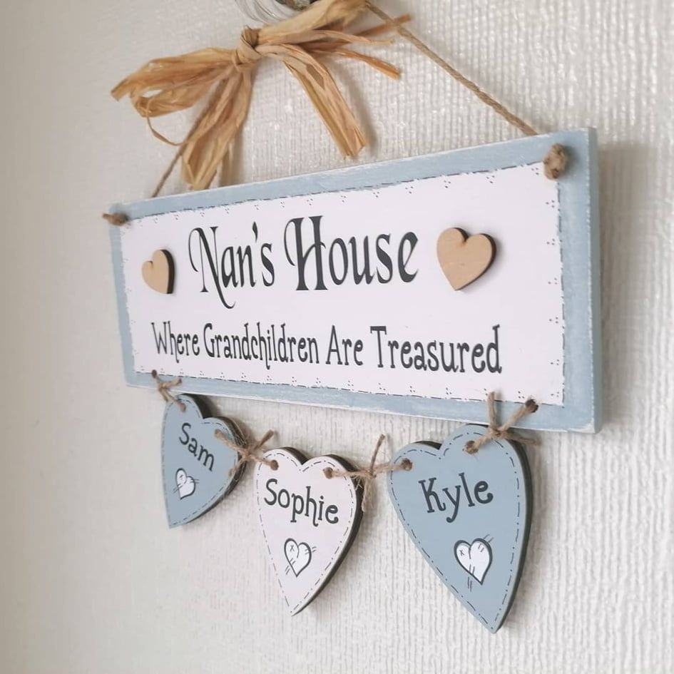 Personalised Grandparent Gift - Where Grandchildren are Treasured
