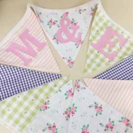 Personalised Hand Made Bunting Vintage