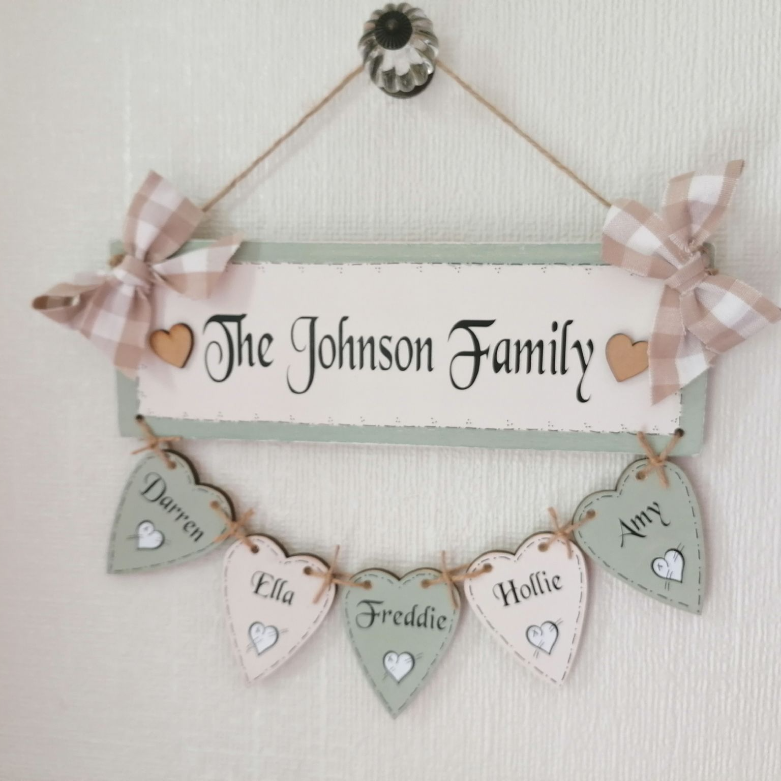 Personalised Hand Made Family Name Tree