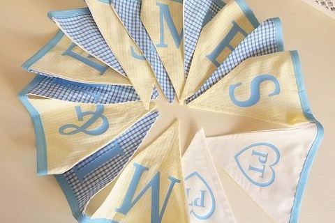 Personalised Hand Made Gingham Wedding Bunting