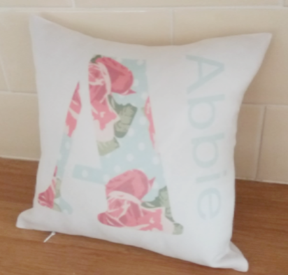 Personalised Initial Cushion - Shabby Chic Design