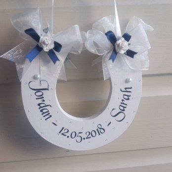Personalised Lucky Wedding Horseshoe