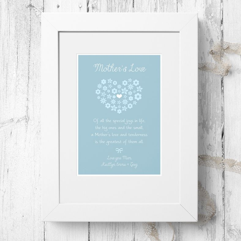Personalised Mother's Love Print