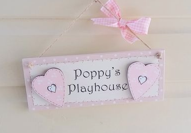 Personalised Playhouse- Bedroom Door Sign