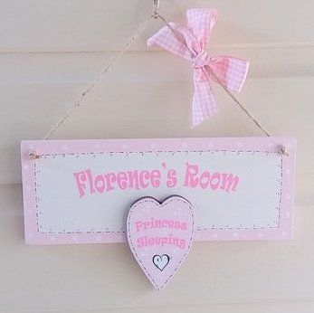 Personalised Princess Sleeping Sign