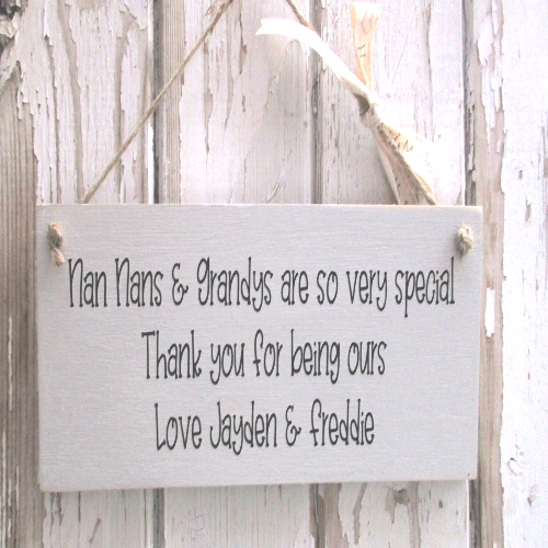 Personalised Wooden Gift Plaque For A Grandparent