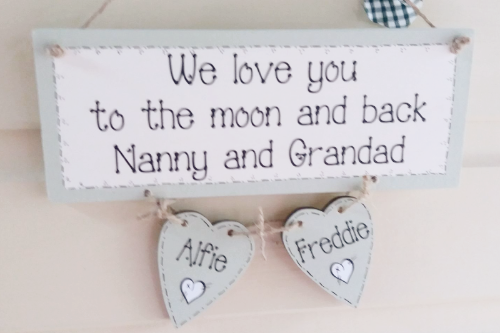 Personalised wall hanging Just Add Your Own Text - 10