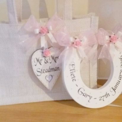 Personalised Wedding Horseshoe & Personalised Gift Bag