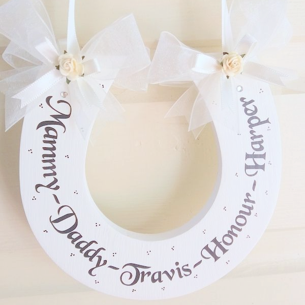 Personalised Wedding Horseshoe With Your Children's Names