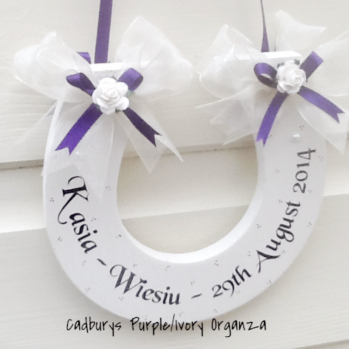 Personalised Wedding Horseshoe With Various Ribbon Choices
