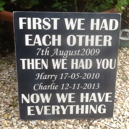 Personalised Wooden Family Board Plaque