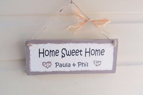 Personalised Wooden Plaque For A New Home