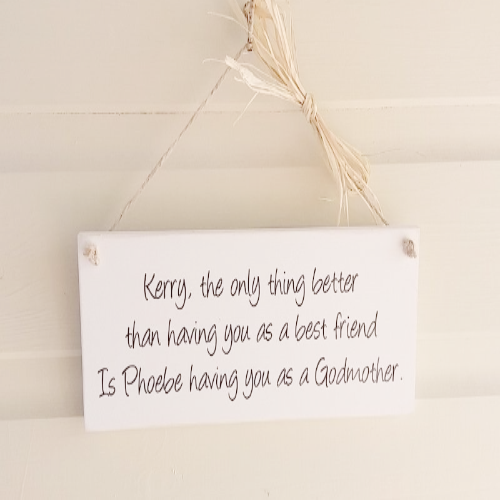 Personalised Wooden Thank You Gift For The Godparents