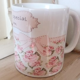 Shabby Chic Personalised China Mug