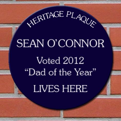 Spoof Heritage Acrylic Plaque Personalised For Your Dad