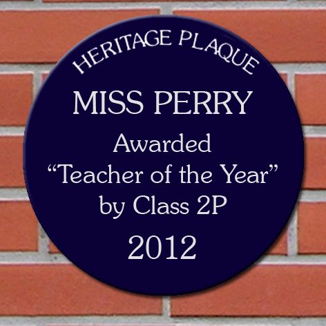 Spoof Heritage Plaques Personalised For A Teacher