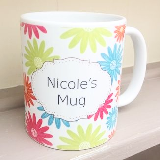 Summer Zest Personalised China Mug