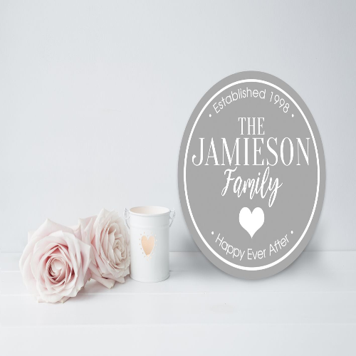 "The ""Family Design"" Acrylic Personalised Plaque"
